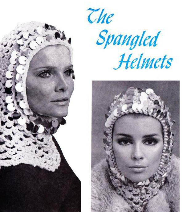 1960s Crochet - Spangled Helmets