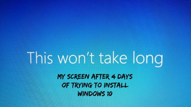 Trying to install Windows 10