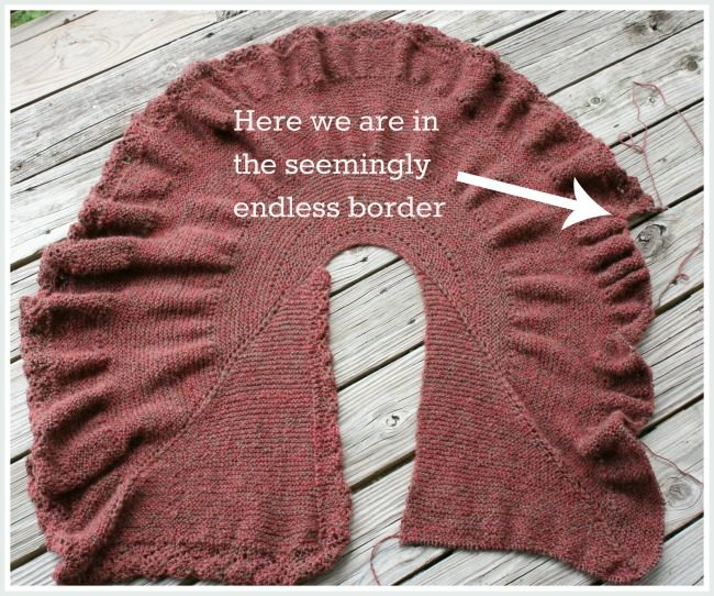 adding a knitted on border