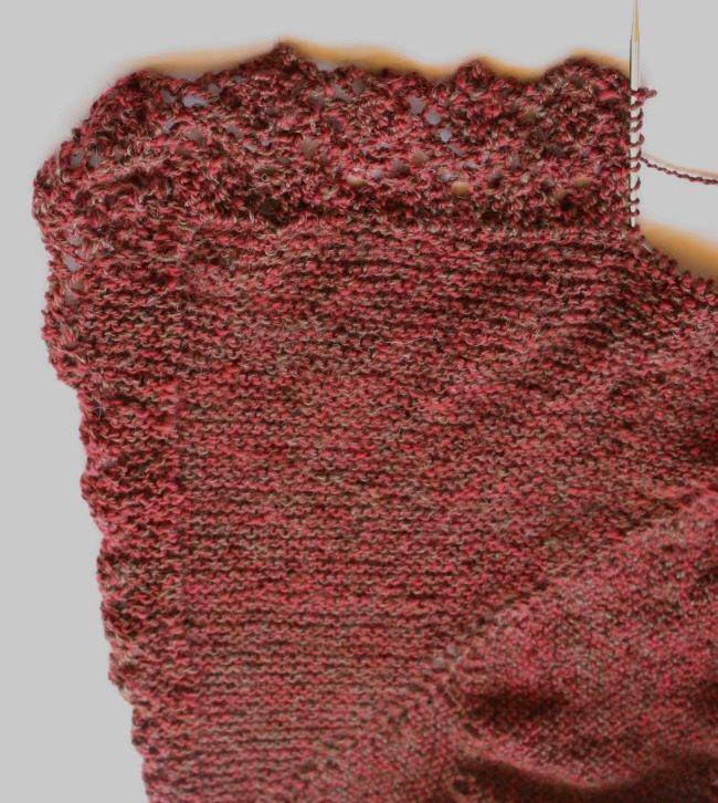 knitting on a lace edge