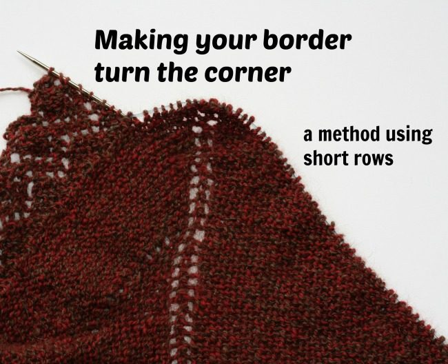 Tutorial for turning corners in a knitted border