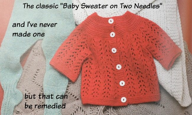 February Baby knit sweater