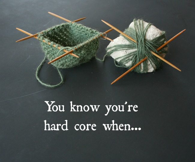 Hard Core knit and crochet