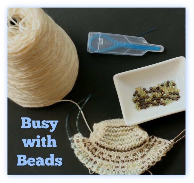 Knitting With Beads Dental Floss : Busy with beads making a coin purse
