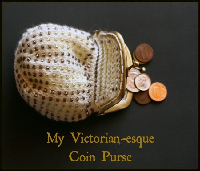 knitting a beaded coin purse