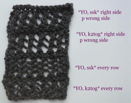 faggot knit sampler