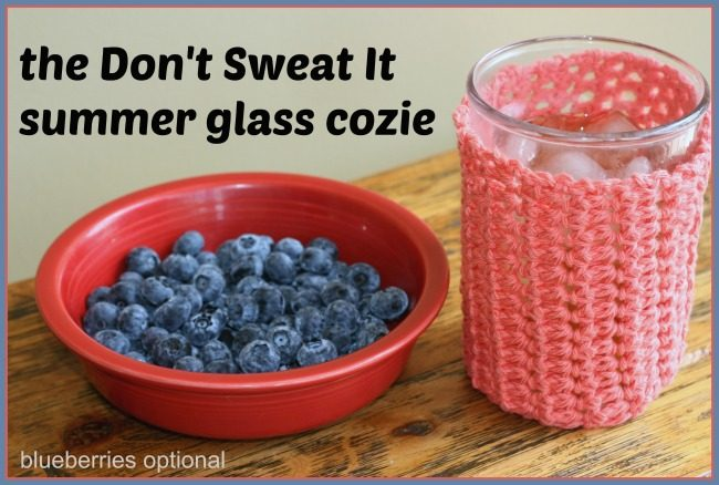 Summer drink cozie - free crochet pattern