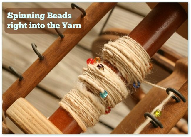 add beads to your handspun yarns
