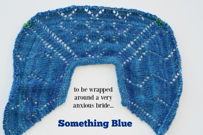 Something Blue wedding shawl