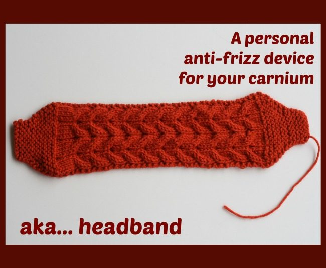 knit cabled headband free pattern