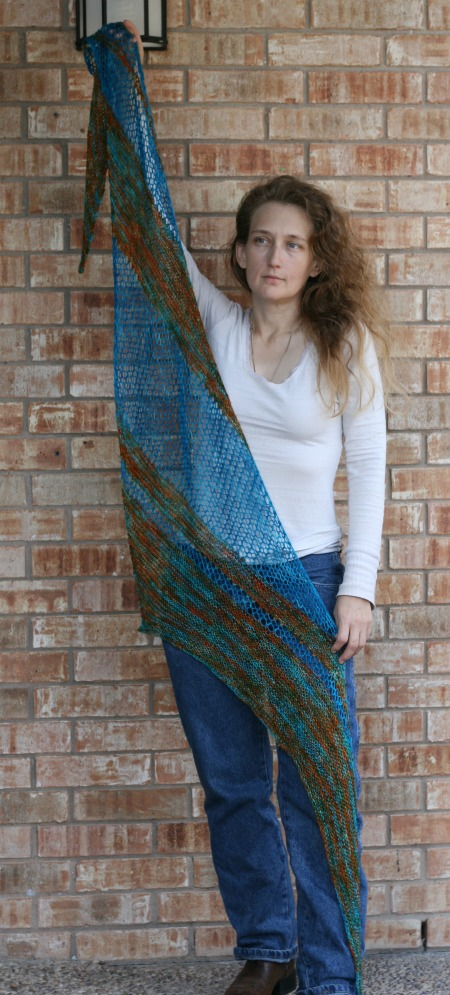 devotion - free knit wrap pattern