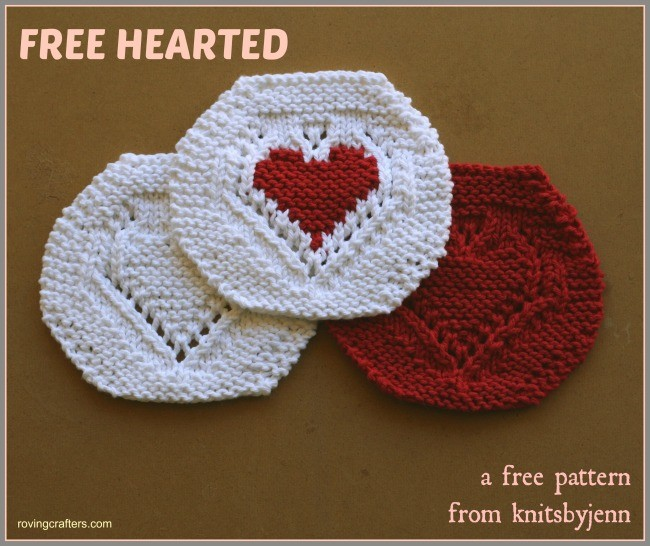 Free Hearted is a free knit pattern
