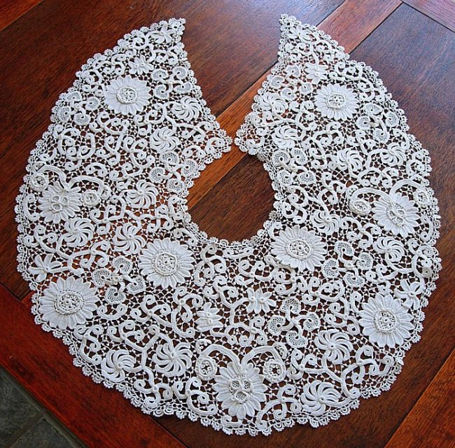 antique Irish crochet collar