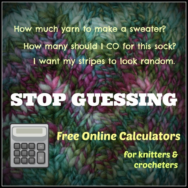 Free online calculators for knit and crochet