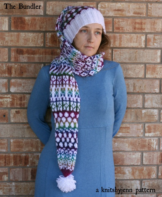 The Bundler hat/scarf knit pattern