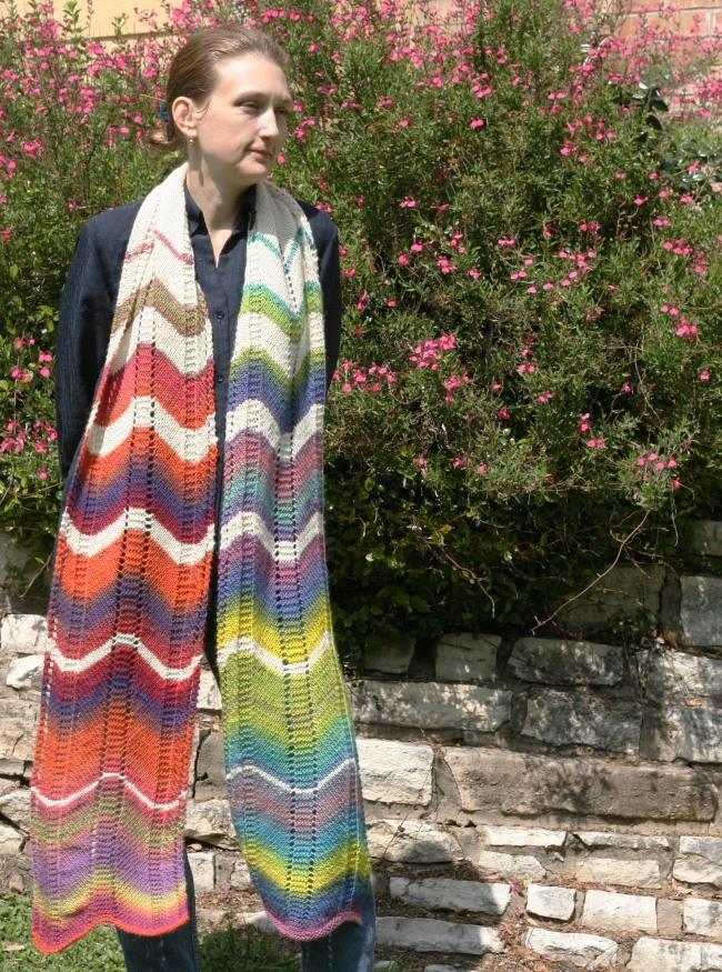 Cadence - a mega knit scarf pattern