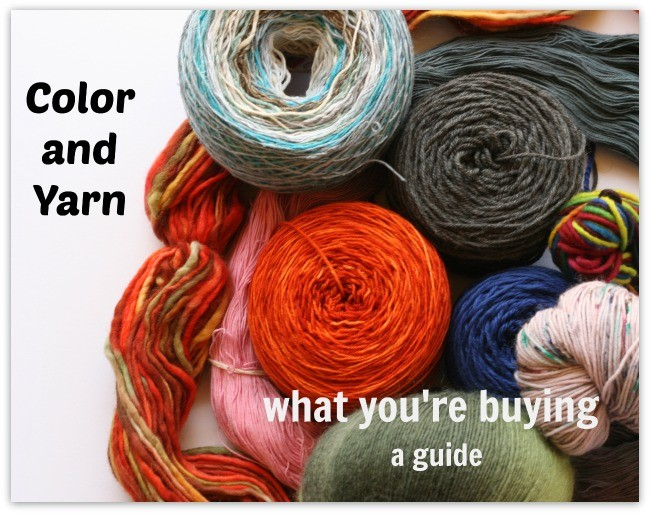 Color and Yarn - a guide for buyers