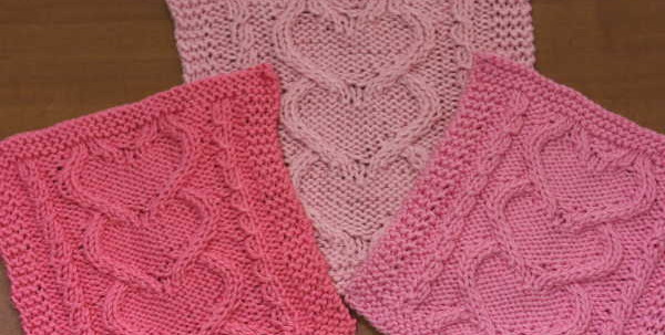 I Heart You Three Times - a free knit pattern for Valentines Day