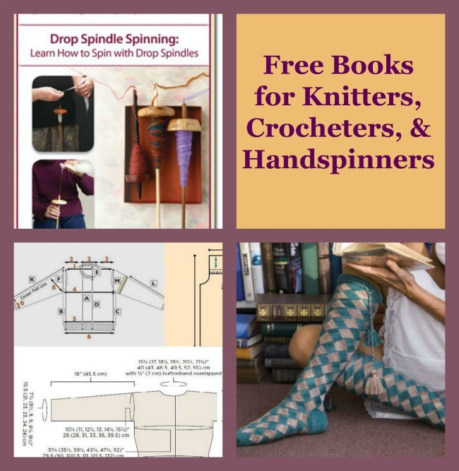 Free Books for knitters, crocheters, & handspinners