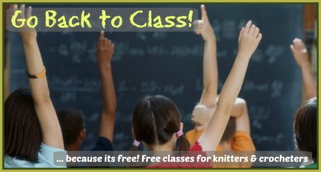 Free classes for knitters and crocheters
