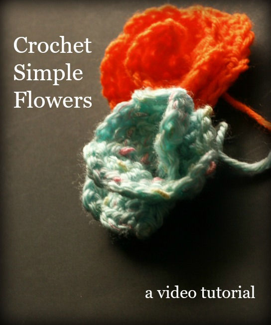 Crochet simple flowers
