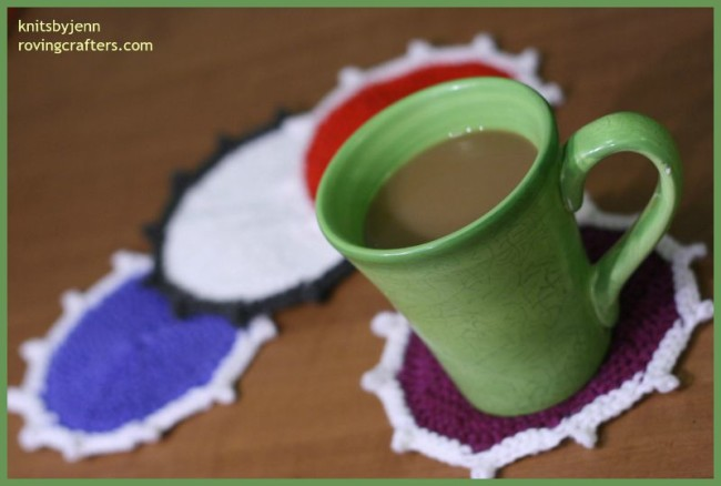 Coasters in Color - a free knit pattern