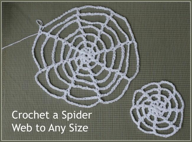 Crochet Spider Webs - a free pattern