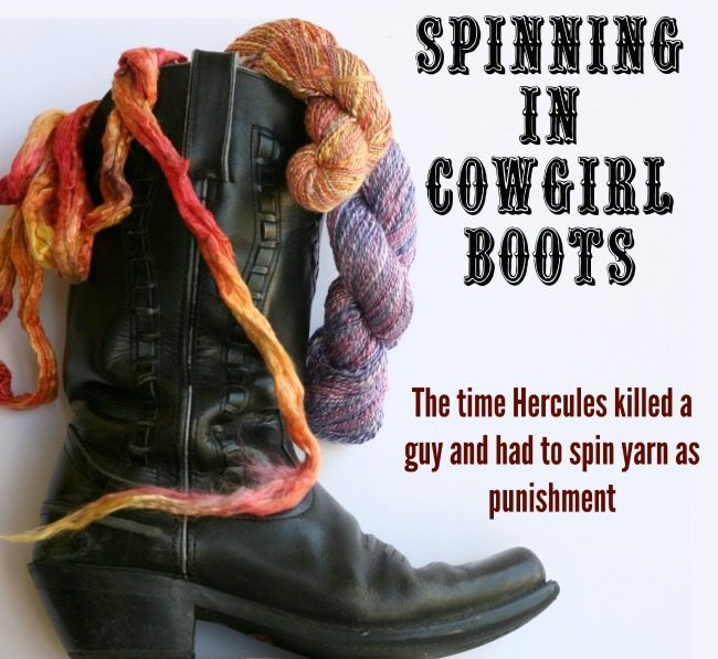spinning in cowgilr boots - Hercules becomes a hanspinner