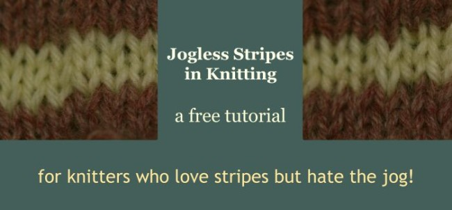 How to knit Jogless Stripes - free tutorial