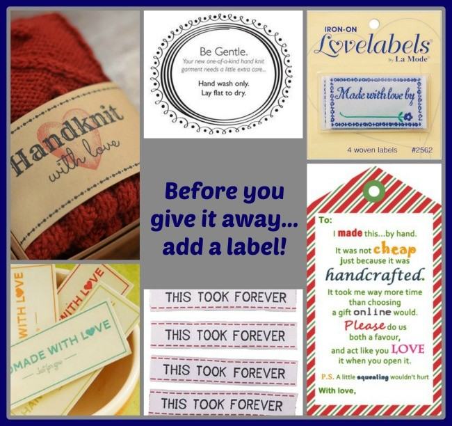 Free and cheap labels to add to your handmade gifts