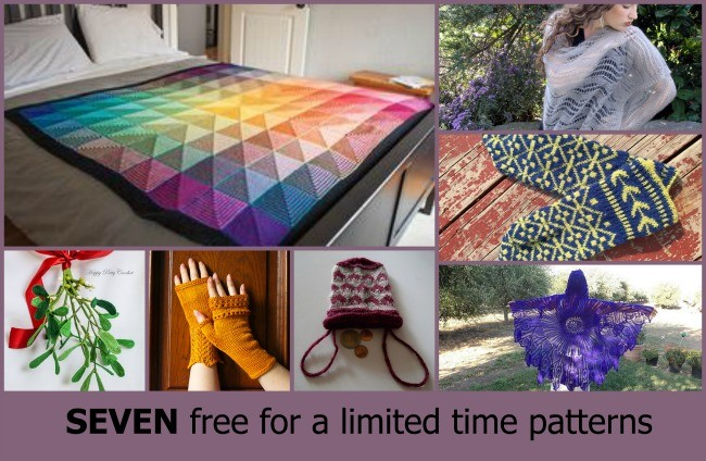 Seven knit and crochet patterns that are free for a limited time only