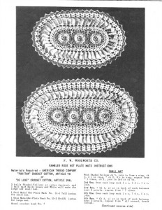 Vintage crochet pattern - Rambler Rose Hot Plate Mats