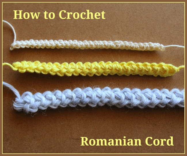How to Crochet Romanian Cord