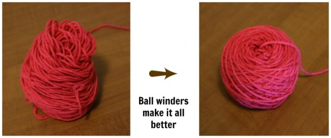 Ball winders for yarn are absolute necessities