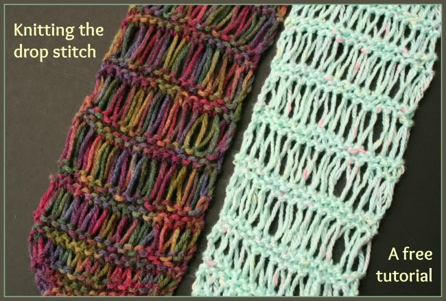Knitting the drop stitch