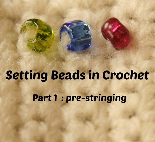 Setting beads in crochet