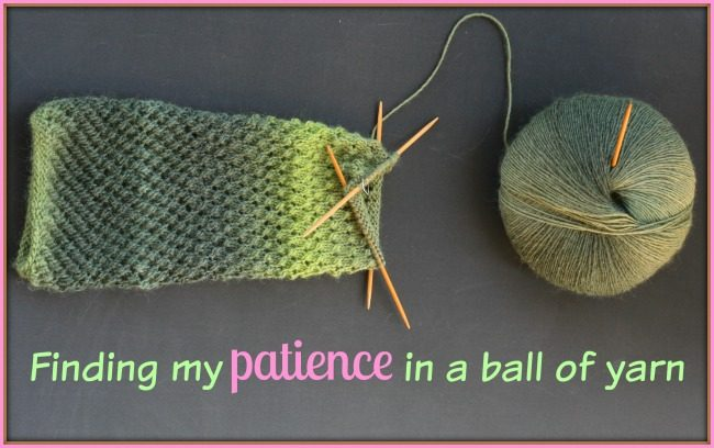 Finding patience in a ball of yarn
