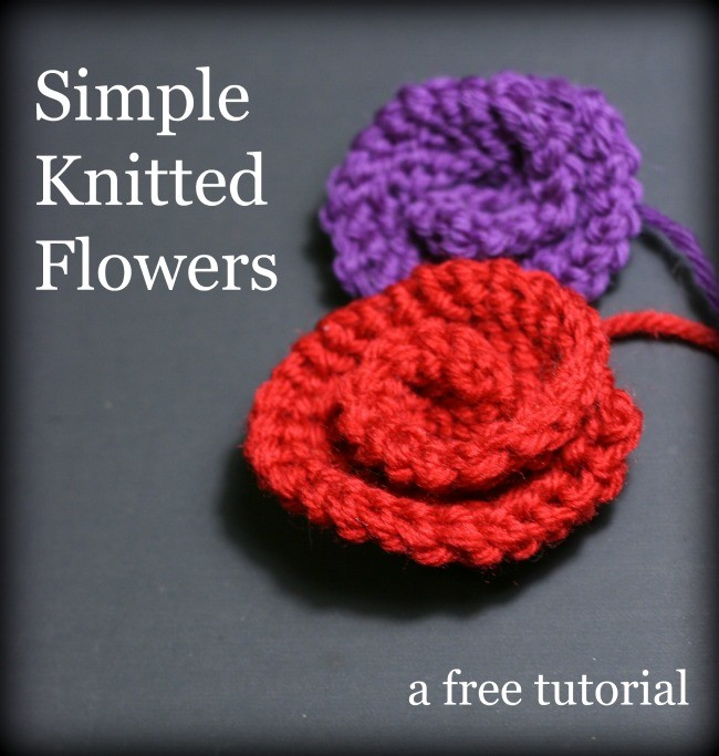 How To Knit Simple Flowers