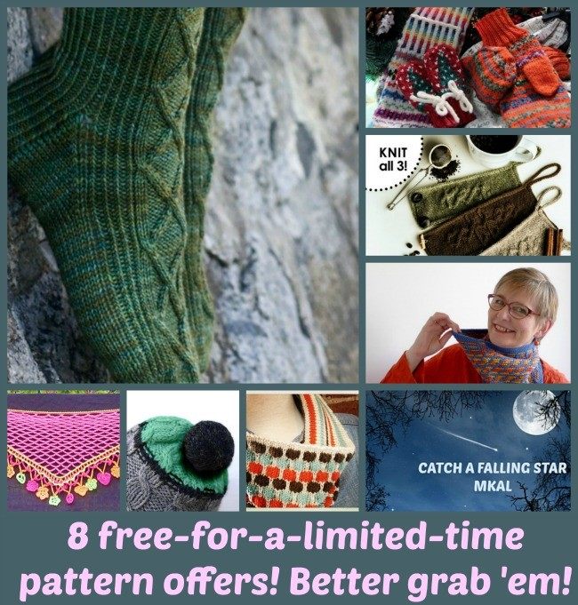 * offers for free patterns! But they won't last...