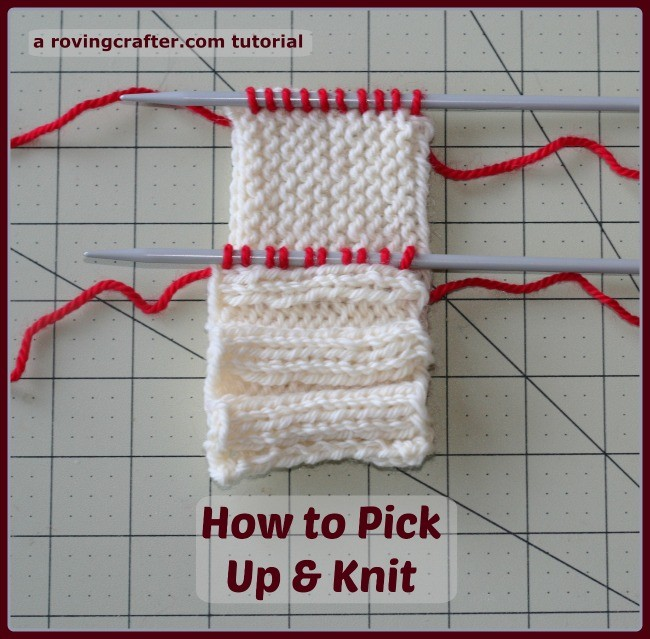 How to pick up & knit - a free tutorial