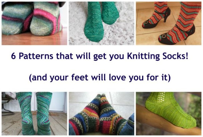 6 patterns for knit socks