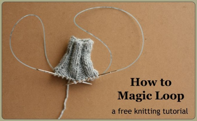 magic loop knitting - a free tutorial