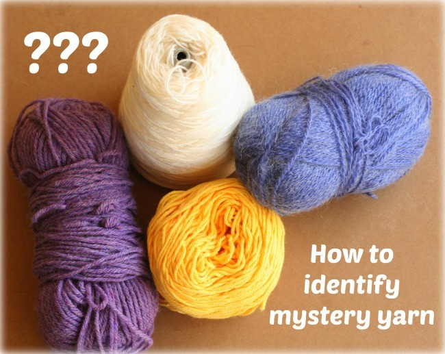 How to identify mystery yarn