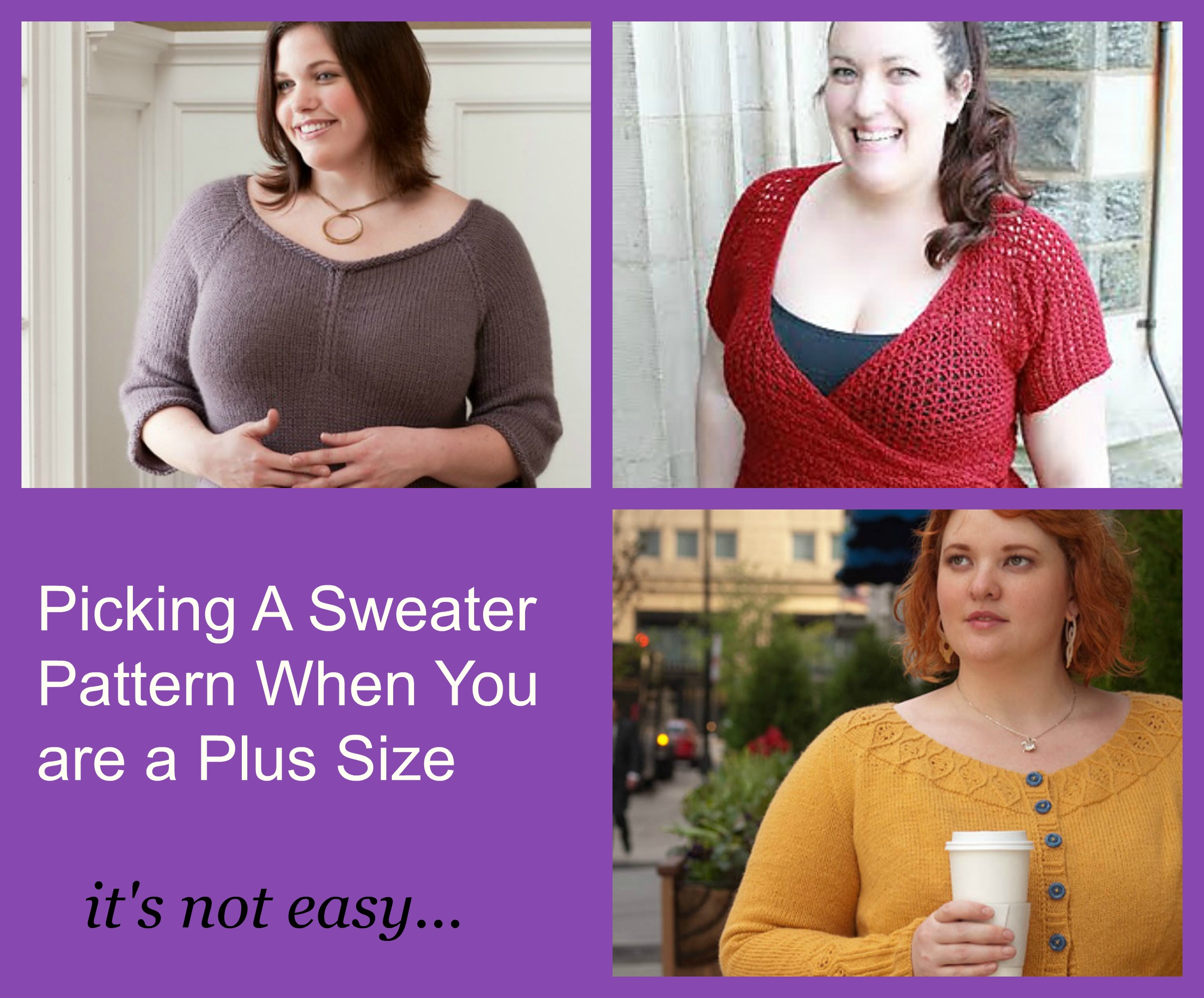 Picking A Sweater Pattern When You Are A Plus Size Roving Crafters